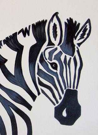 zebra 12x16 acrylic painting with uv coating
