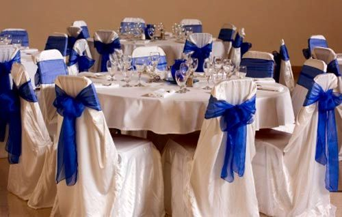 Horizon blue wedding Wedding setups Pinterest Chairs The
