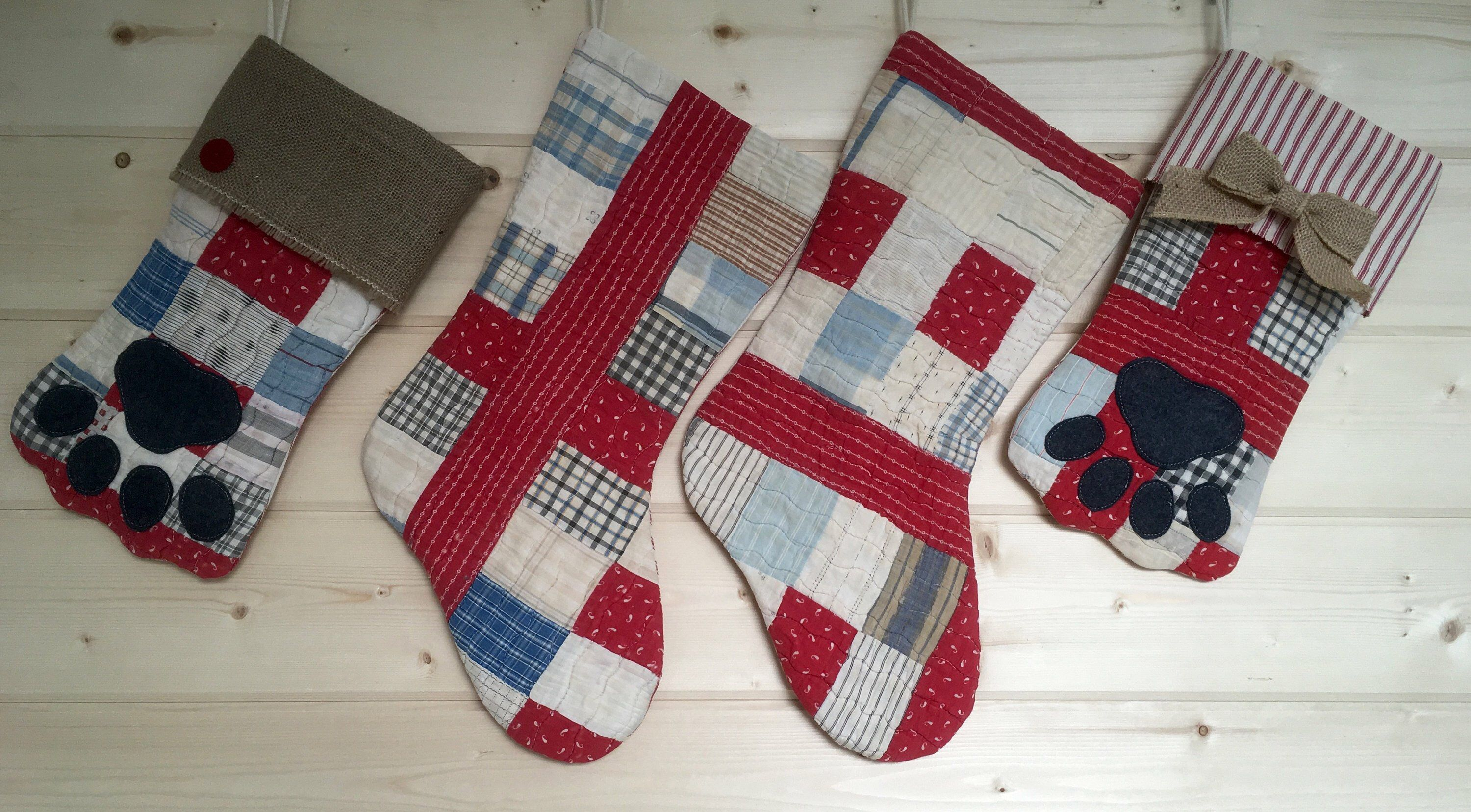 christmas stockings vintage quilt red blue country christmas shabby jpg 3000x1656 country christmas stockings - Country Christmas Stockings