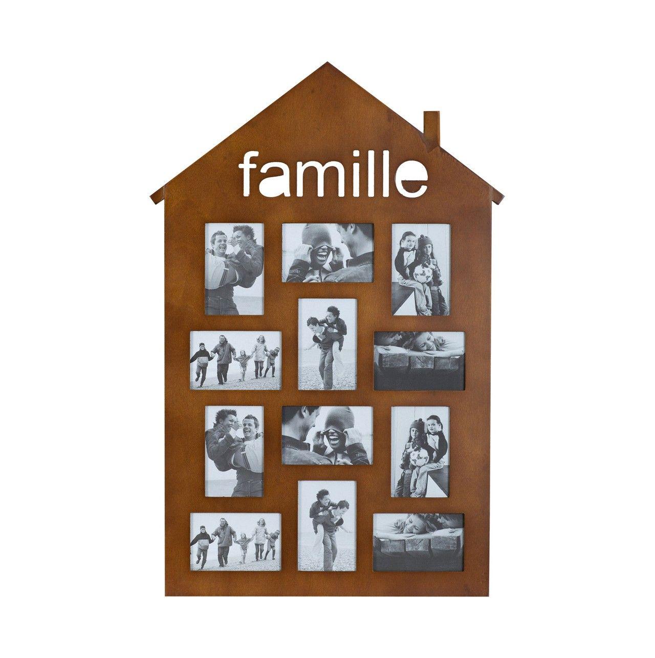 marco en forma de #casa color #marrón #fotos #regalo #diadelamadre ...