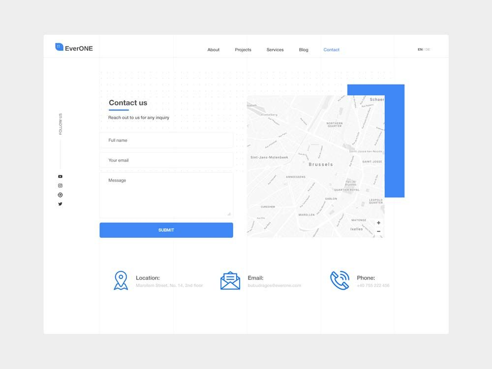 20 Beautiful Contact Us Page Designs For Inspiration In 2020 Contact Us Page Design Page Design Web Design
