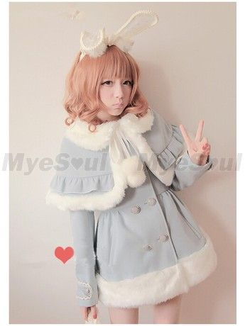 Sweet high-grade double-breasted collars cloth Lolita Coat