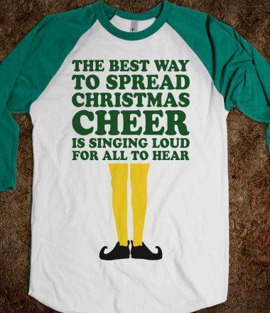The Best Way To Spread Christmas Cheer (Elf Baseball) - Fun Movie Shirts - Skreened T-shirts, Organic Shirts, Hoodies, Kids Tees, Baby One-Pieces and Tote Bags on Wanelo