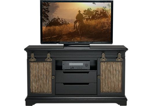 Eric church highway to home arrow ridge ebony 64 in console 699 99 64w x 18d x 36h find affordable tv consoles for your home that will complement the