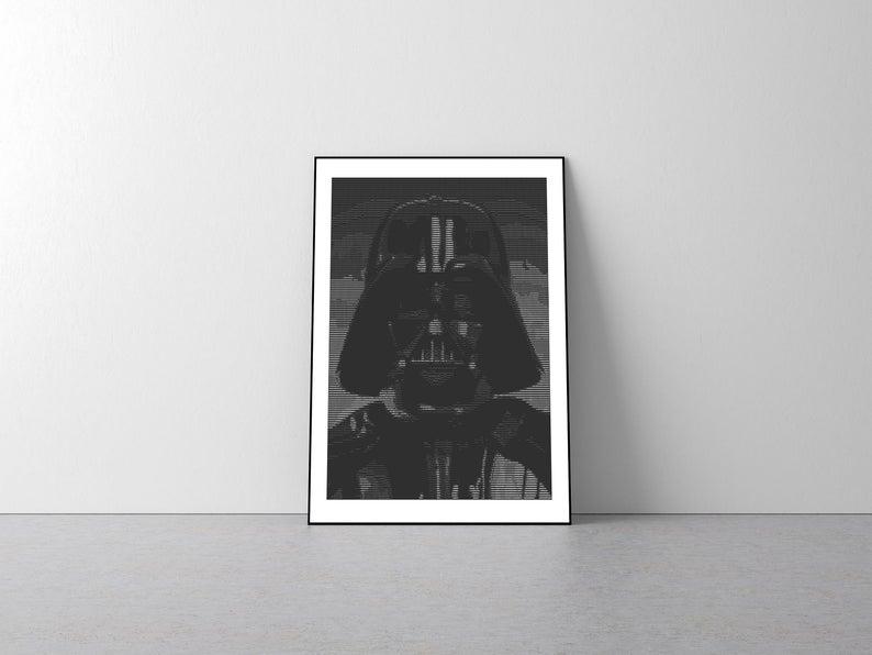 Darth Vader Star Wars Ascii Art Instant Download Etsy Ascii Art Vader Star Wars Star Wars Darth Vader