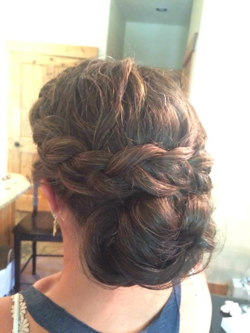 Thick Hair Side Braid Into Low Bun Chignon Wedding Hairstyle Www Majesticmountainbeauty Com Side B Thick Hair Styles Wedding Hairstyles Updo Plaits Hairstyles