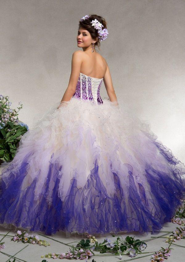 Purple ombre quinceanera dresses