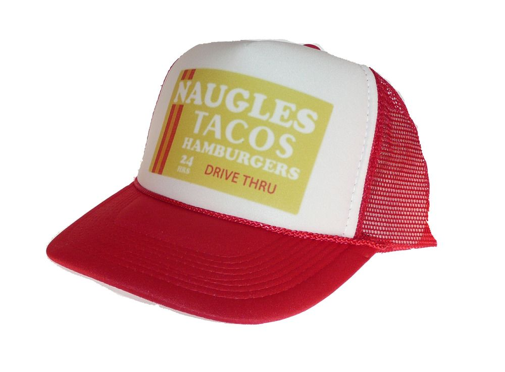 Vintage Naugles Tacos hat Trucker Hat Mesh Hat Free Shipping red  Unbranded de764a43f263