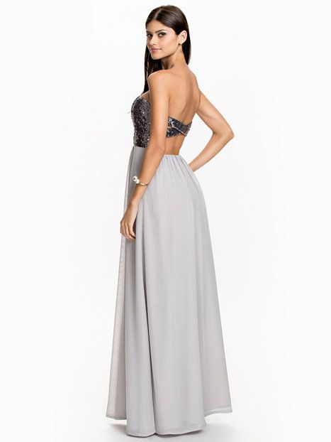 Cross Back Maxi Dress - Nly Eve - Silber - Partykleider - Kleidung ...