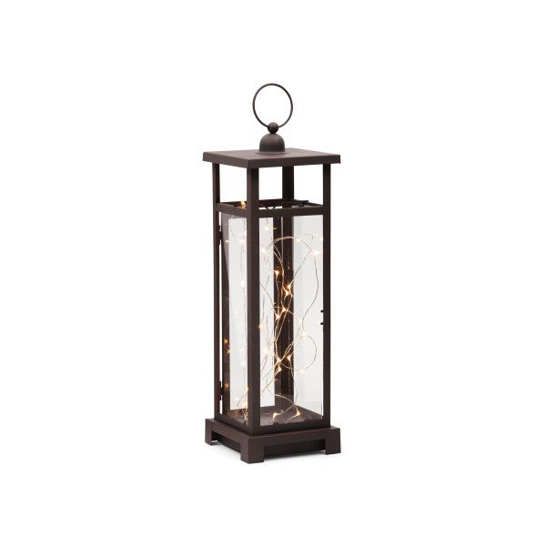 Led string light metal lantern 20 ❤ liked on polyvore featuring home outdoors