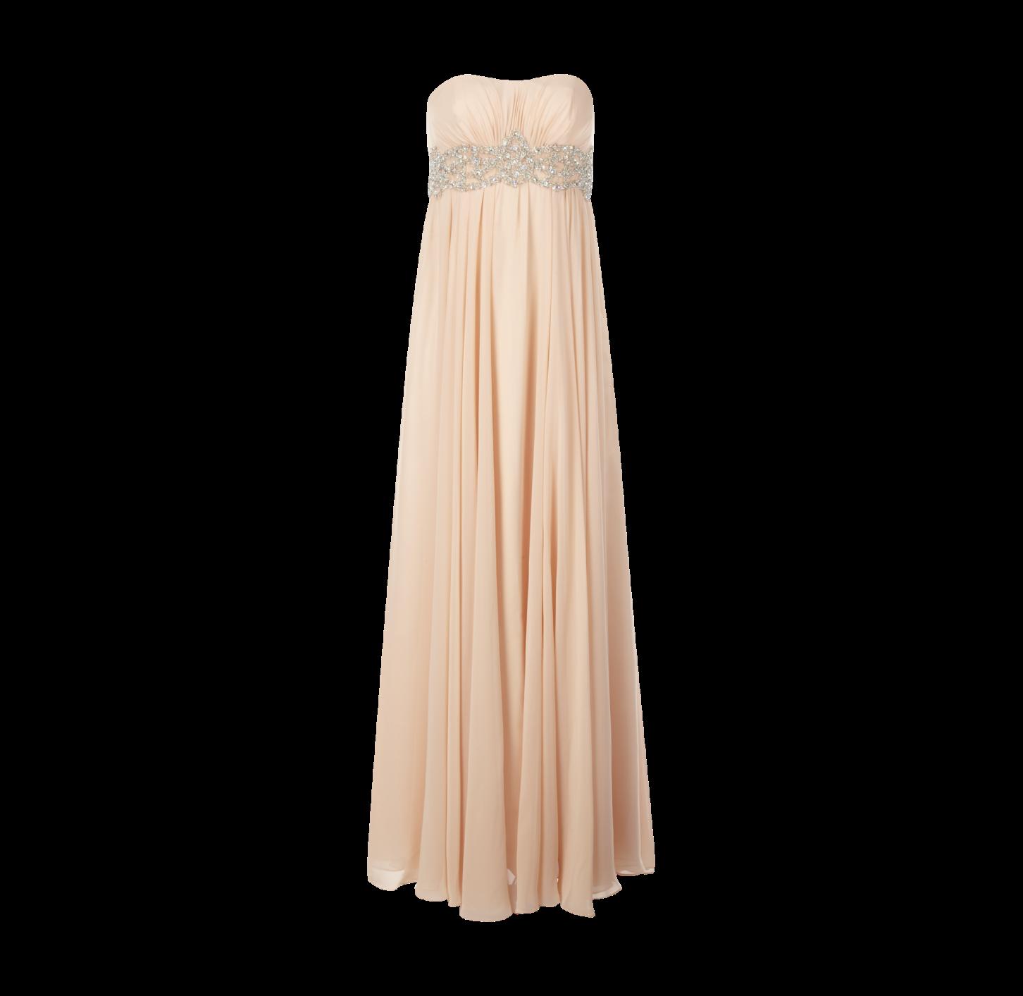 UNIQUE Abendkleid mit Stola #peach #dress #embellished  Modestil