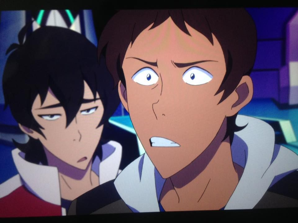 Keith not amused with Lance from Voltron Legendary Defender