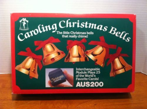 ye merrie minstrel caroling christmas bells aus200 25 carols mint in box