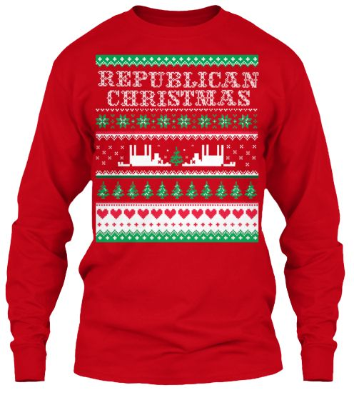 Republican Ugly Christmas Sweater! | Teespring | Gutsgunsglory.com ...