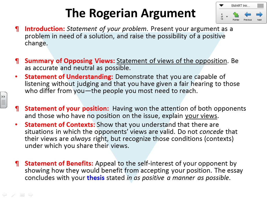 Image Result For Rogerian Argument Letter Example  Essay