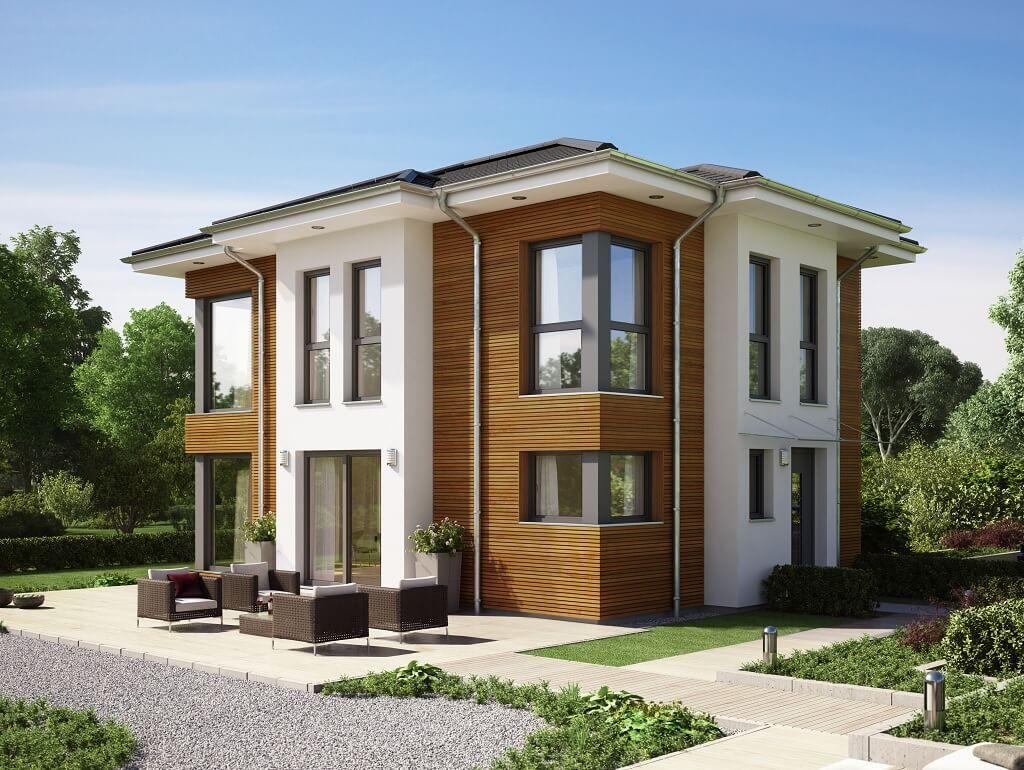 Haus Modern Stadtvilla Evolution 122 V 14 Bien Zenker Aussenfassade