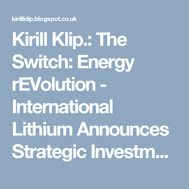Kirill Klip Energy Revolution The Big Picture