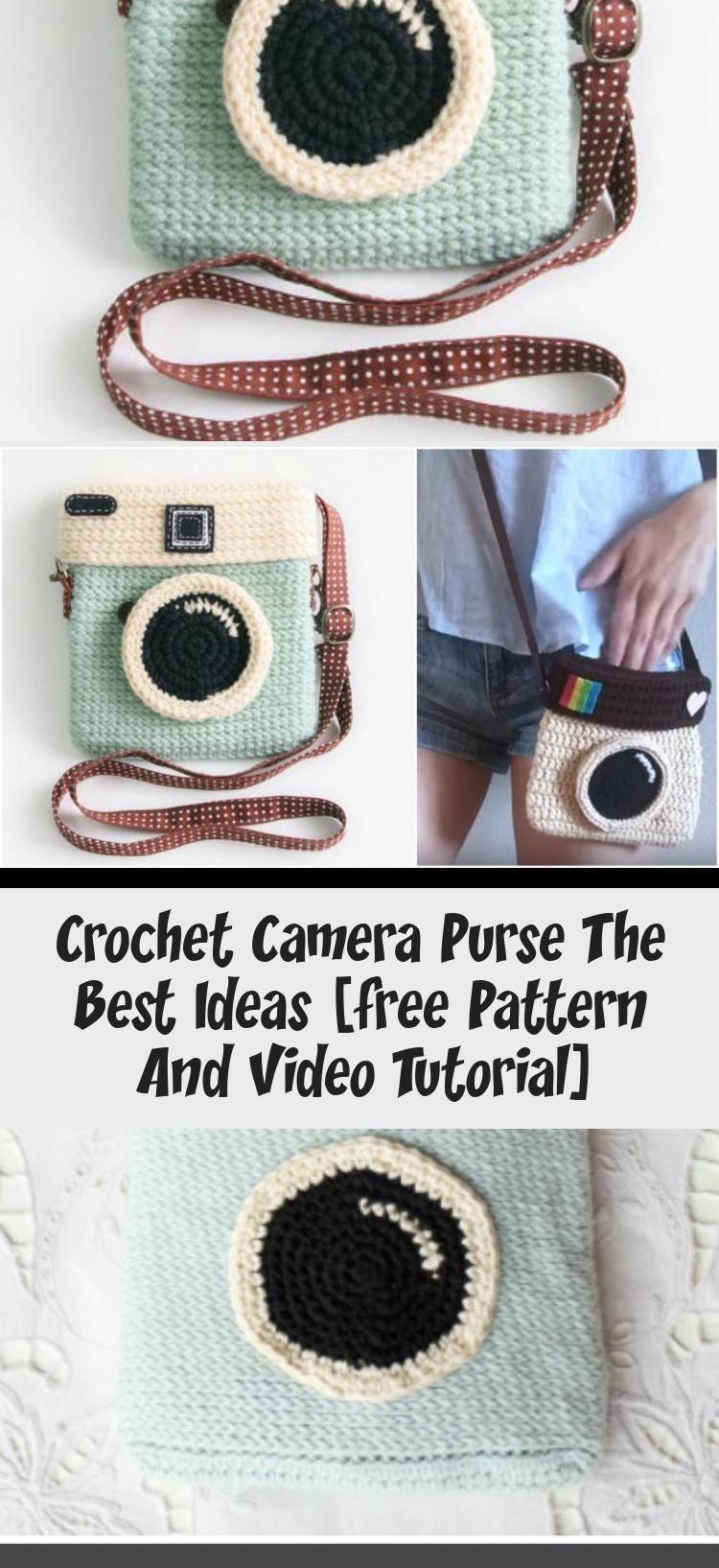 Crochet Camera Purse The Best Ideas, Free Crochet Pattern and Video Tutorial #crochetScarf #crochetFlowers #crochetBlanket #crochetClothes #crochetSweater