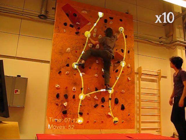 Augmented climbing wall by Raine Kajastila and Perttu Hämäläinen on Vimeo #AugmentedReality #Climbing #Gamification #Trainning