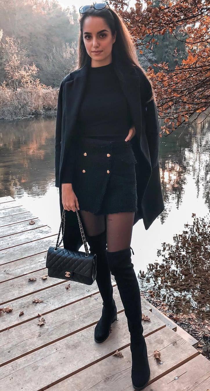 30 tenues d'hiver chic et chaudes # beautifulnails #nailcolor #blingnails # …