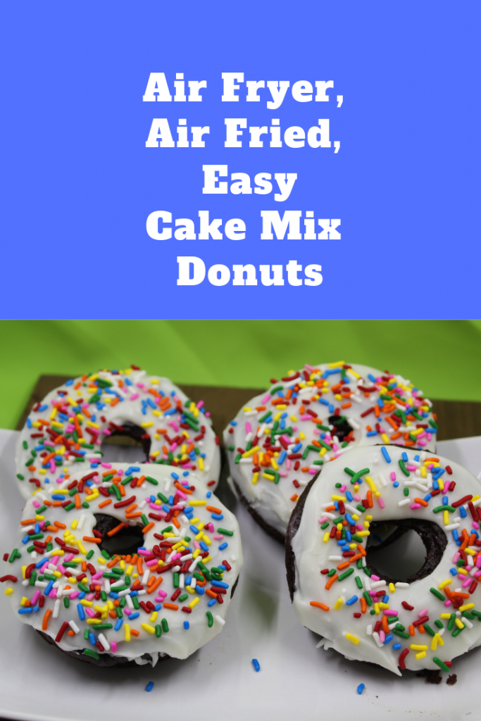 Air Fryer, Easy Cake Mix Donuts