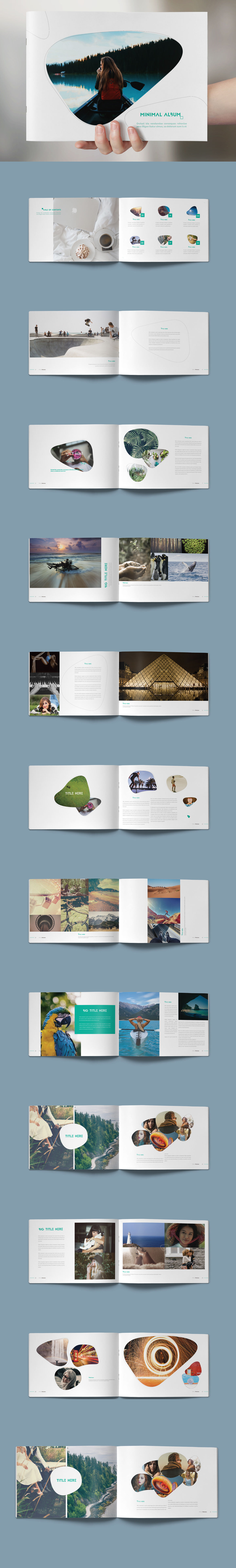 Minimal Photo Album Template InDesign INDD | Photo Album Design ...