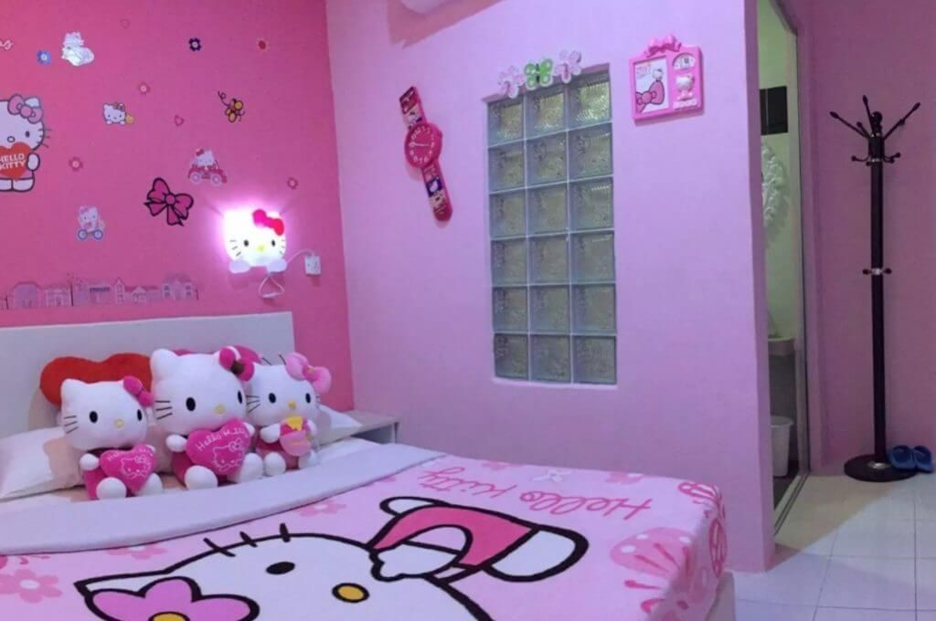 19 Cute Charming Hello Kitty Bedroom Decoration Hello Kitty