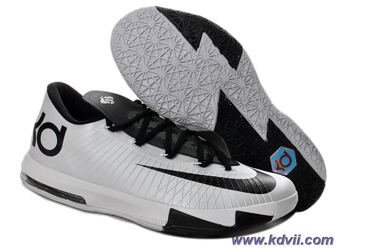 new concept 63f4e 2facc Cheap 599424-104 Kevin Durant Shoes Nike Zoom KD 6 Low Black White