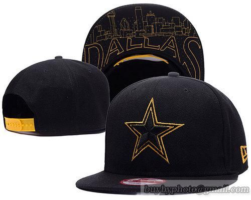 Dallas Cowboys Snapback Hats Black Metallic Gold  45807c40c