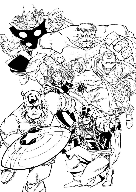 disegni da colorare avengers pdf