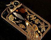 Custom Handmade Vintage Bohemia Style iPhone case , iPhone 4s case, iPhone 4 case Hard iPhone Case Cover. $38.99, via Etsy.