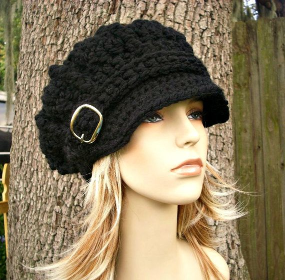 15% Off - Hand Crocheted Hat Womens Hat - Monarch Ribbed Crochet ...