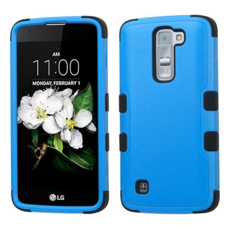 Insten Tuff Hard PC/ Silicone Dual Layer Hybrid Rubberized Matte Case Cover For LG K7