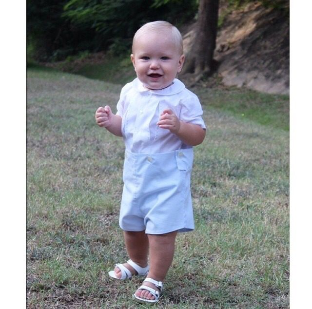 6d9ec232f Little Wes is looking absolutely adorable in his vintage Feltman ...