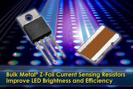 Vps Bulk Metal Z Foil Current Sensing Resistors Improve Led Brightness And Efficiency With Images Resistors Led Usb Flash Drive