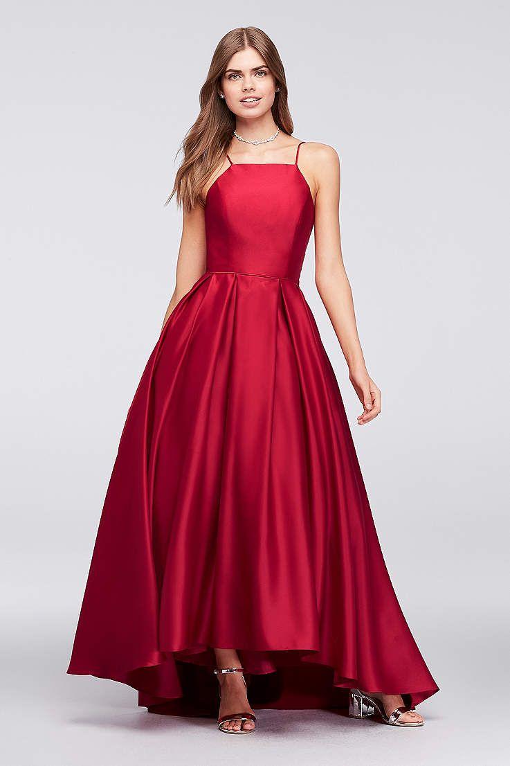 Long ballgown halter formal dresses dress betsy and adam erin