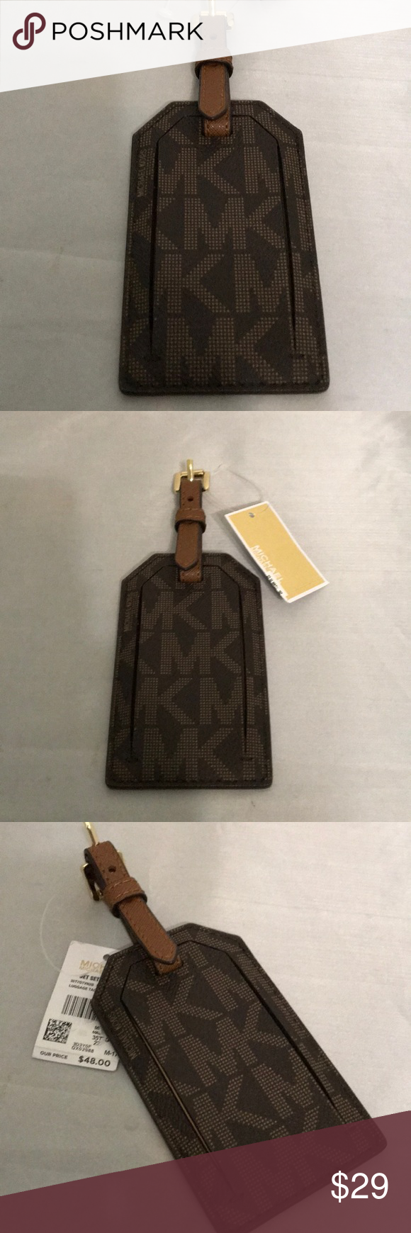 21563ebbb1fd NWT Michael Kors Jet Set Travel Luggage Tag Looking for your luggage at the  airport is a breeze with this gorgeous luggage tag holder.