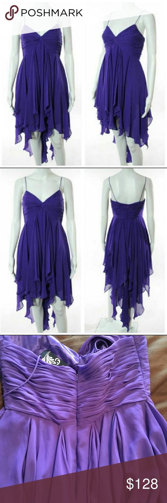Aidan Mattox Purple Layered Cocktail Dress NWT