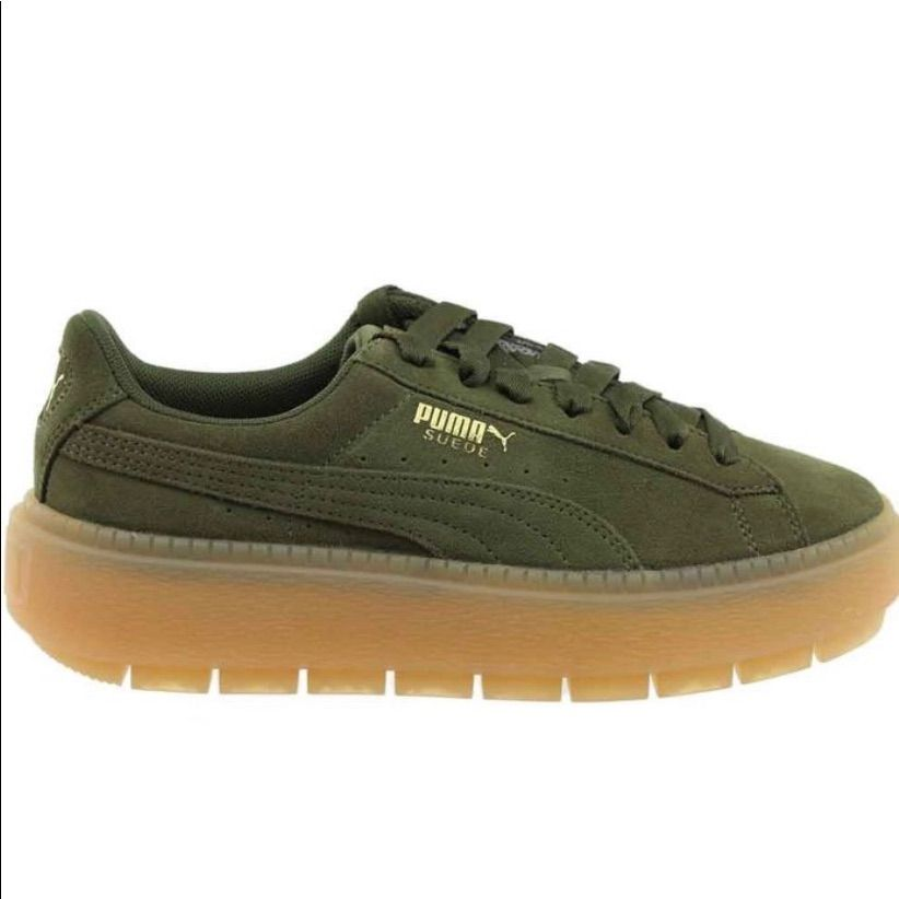 Puma Shoes | Puma Suede Creepers: Olive Green | Color: Green