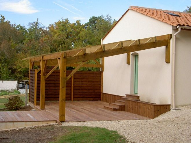 construire une pergola en bois south side of house pinterest pergolas construction and patios