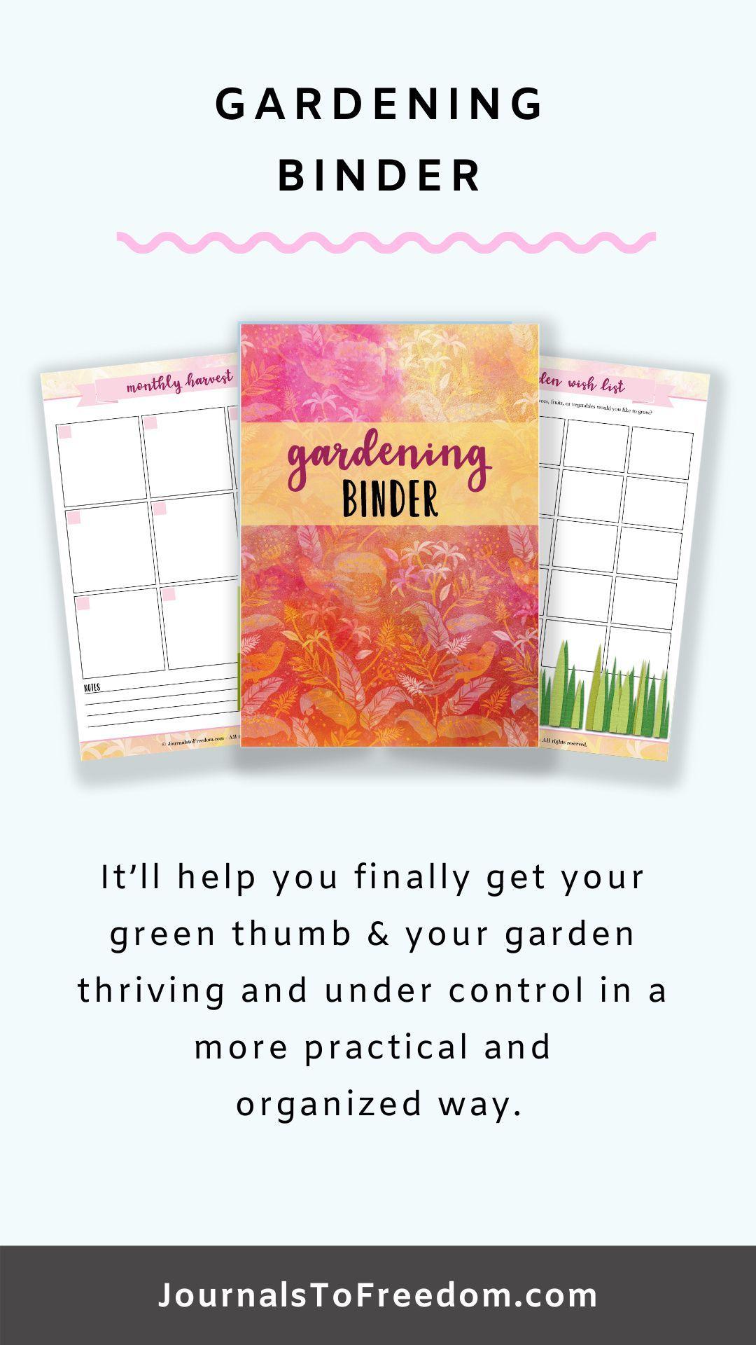 Gardening Binder {34 Pages} in 2020 | Gardening printables ...
