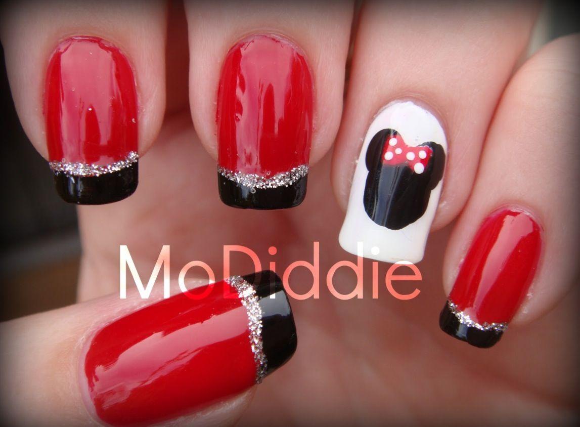 Minnie Mouse Nails | Mini mouse ideas | Pinterest | Fiestas ...