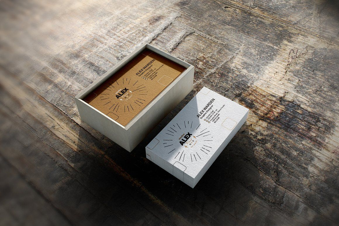 Business Card Box Mock-Up 4 by alexvisual on @creativemarket ...