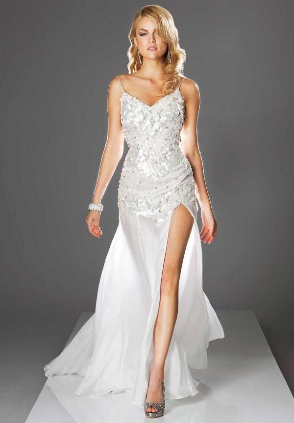 white & silver prom dresses - Google Search | Vegas | Pinterest ...