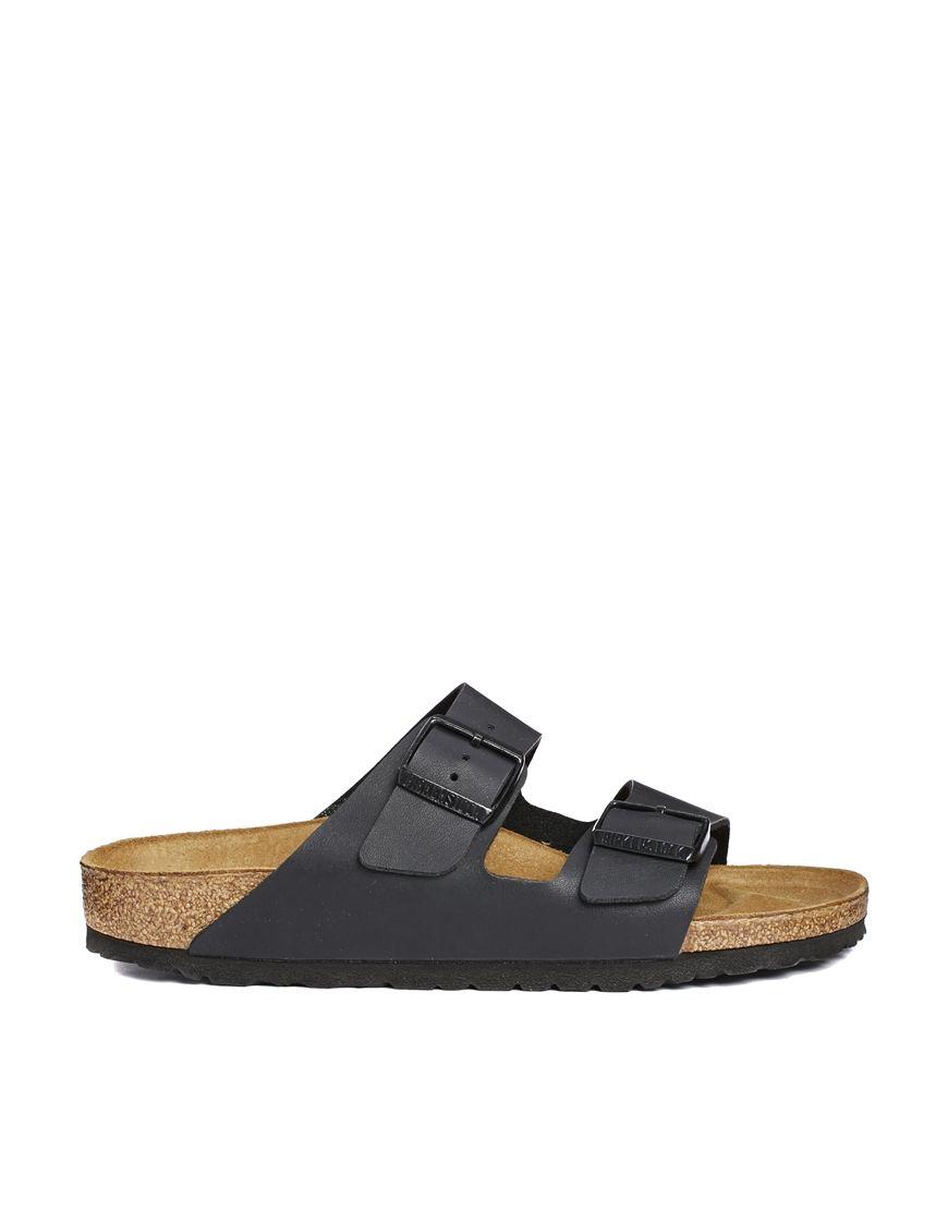 cc248046 Compra Sandalias planas de corte estrecho en negro Birko Arizona de  Birkenstock en ASOS. Descubre la moda online.