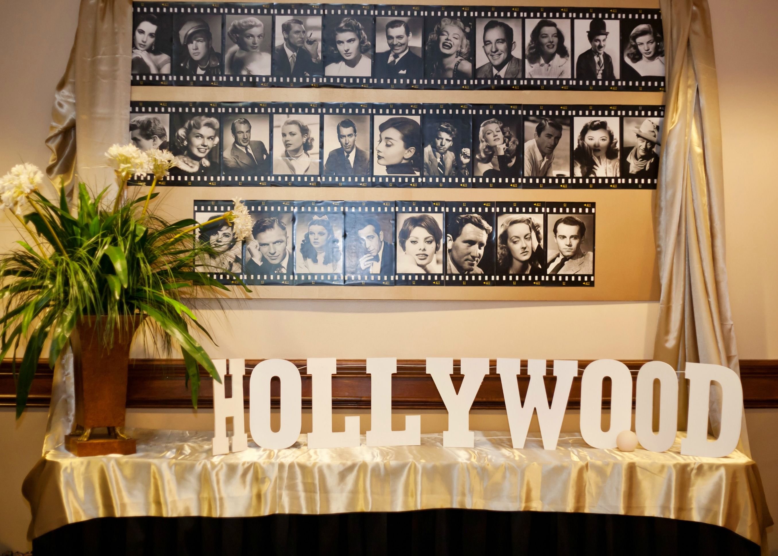 40th Hollywood Glam Party - Birthday Party Ideas & Themes |Old Hollywood Themed Birthday Party