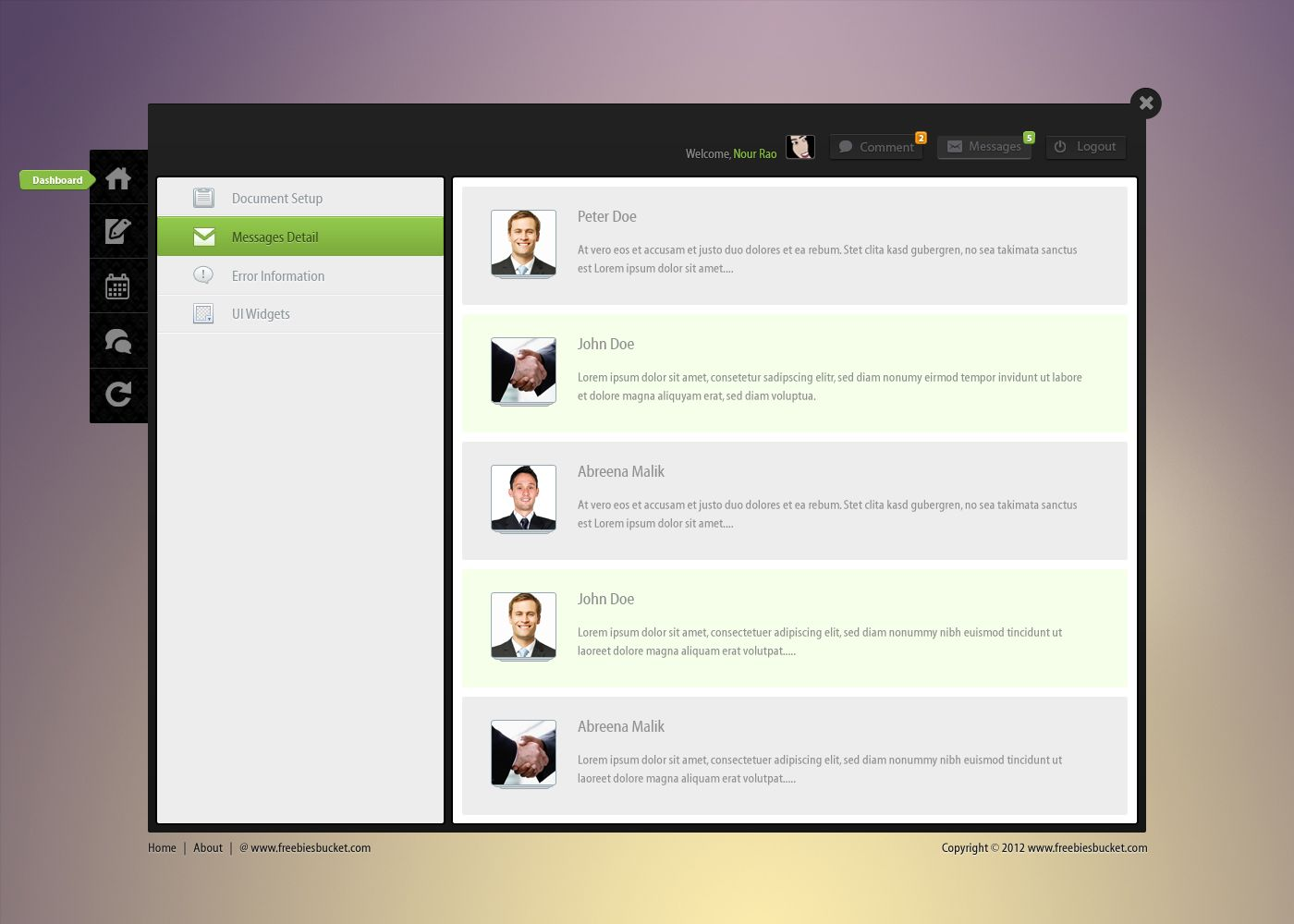 admin panel website template free download