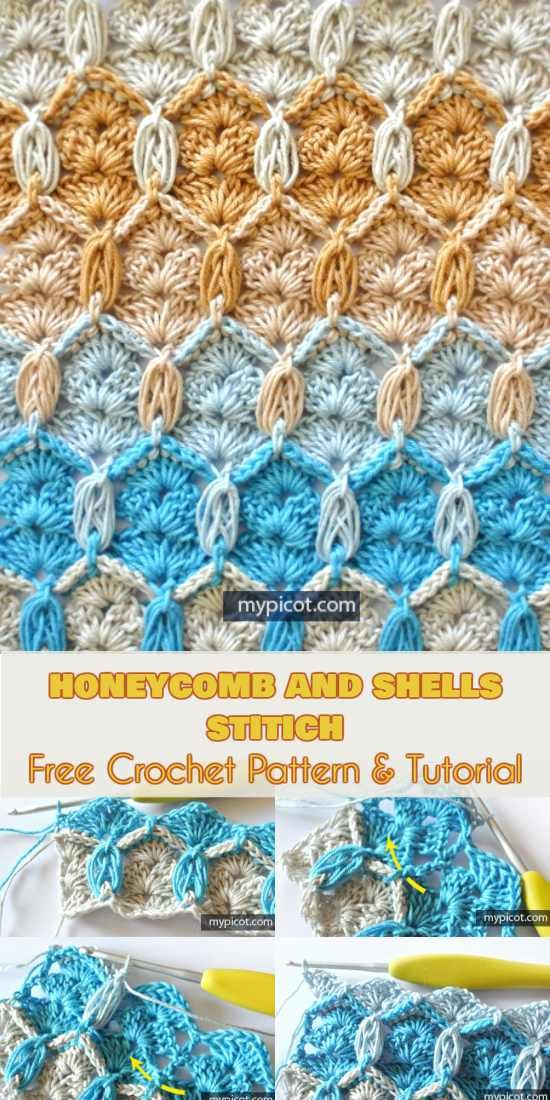 Honeycomb and Shells Stitch Free Crochet Pattern and Tutorial ...