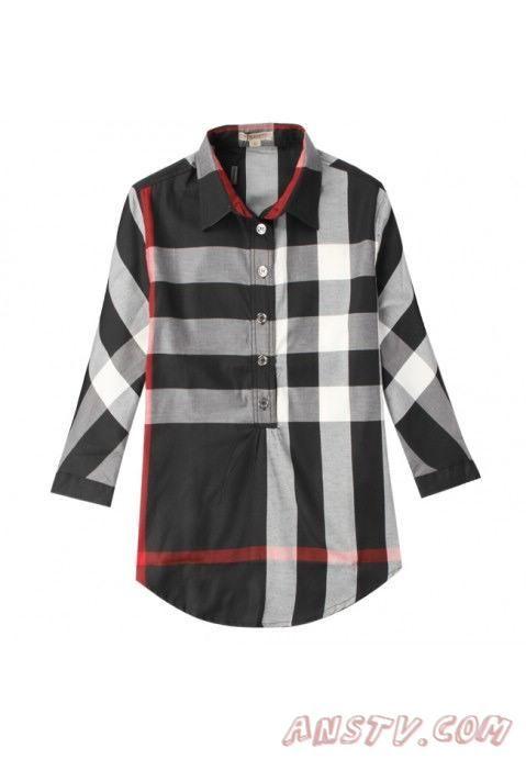 989981483d0a Femmes s Burberry TextuRouge Stripe Shirts wshirt070 Pas cher ...