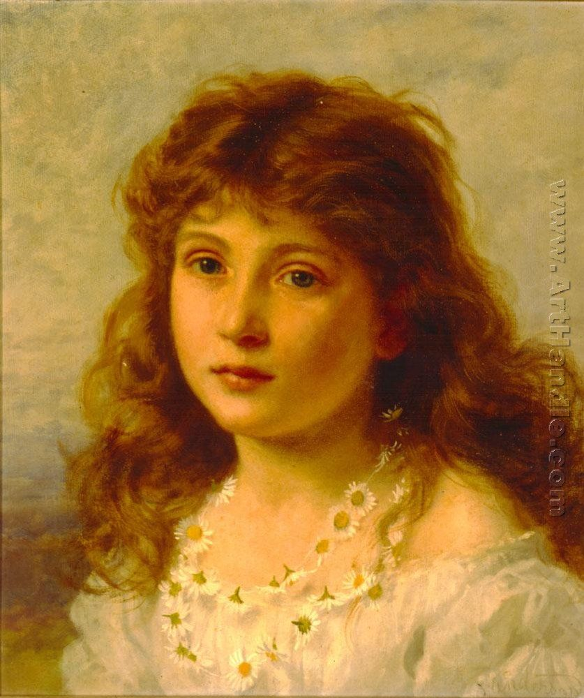 "Pre-Raphaelite Painting:  ""Young Girl,"" by Sophie Gengembre Anderson (French, 1823 - 1903). #Pre-Raphaelite."
